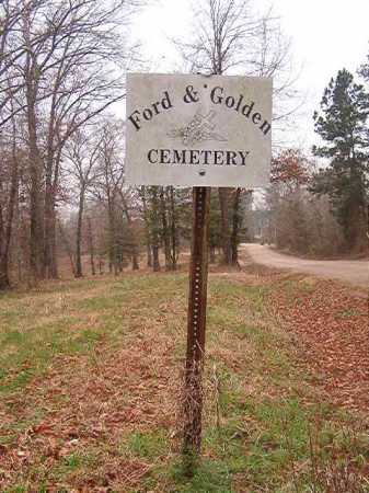 *FORD & GOLDEN CEMETERY SIGN,  - Union County, Arkansas |  *FORD & GOLDEN CEMETERY SIGN - Arkansas Gravestone Photos