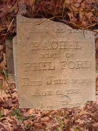 FORD, RACHEL - Union County, Arkansas | RACHEL FORD - Arkansas Gravestone Photos