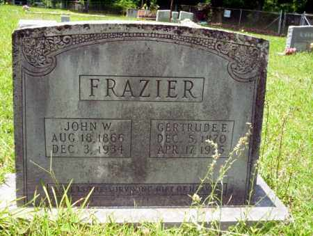 FRAZIER, JOHN W - Union County, Arkansas | JOHN W FRAZIER - Arkansas Gravestone Photos