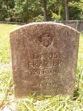 FRAZIER (VETERAN), DAVIS - Union County, Arkansas | DAVIS FRAZIER (VETERAN) - Arkansas Gravestone Photos