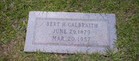 GALBRAITH, BERT H - Union County, Arkansas | BERT H GALBRAITH - Arkansas Gravestone Photos