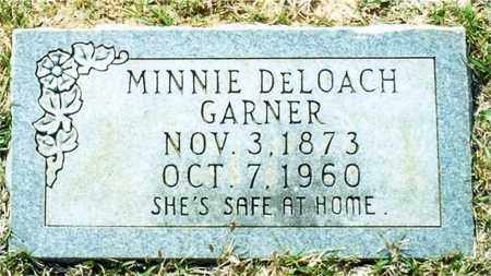 DELOACH GARNER, MINNIE - Union County, Arkansas | MINNIE DELOACH GARNER - Arkansas Gravestone Photos