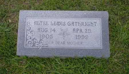 LEWIS GATHRIGHT, ALTEE - Union County, Arkansas | ALTEE LEWIS GATHRIGHT - Arkansas Gravestone Photos