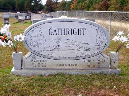 GATHRIGHT, JAMES CECIL - Union County, Arkansas   JAMES CECIL GATHRIGHT - Arkansas Gravestone Photos