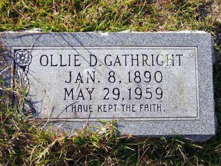 GATHRIGHT, OLLIE D. - Union County, Arkansas   OLLIE D. GATHRIGHT - Arkansas Gravestone Photos