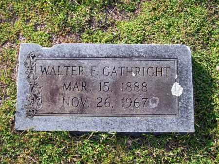 GATHRIGHT, WALTER F. - Union County, Arkansas | WALTER F. GATHRIGHT - Arkansas Gravestone Photos