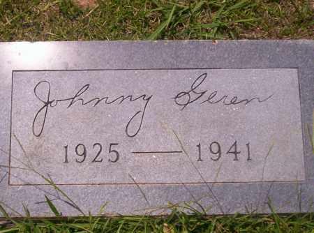 GEREN, JOHNNY - Union County, Arkansas   JOHNNY GEREN - Arkansas Gravestone Photos