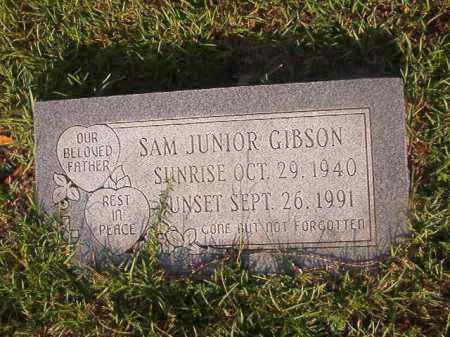 GIBSON, SAM JUNIOR - Union County, Arkansas | SAM JUNIOR GIBSON - Arkansas Gravestone Photos