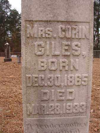 GILES, CORIN - Union County, Arkansas | CORIN GILES - Arkansas Gravestone Photos