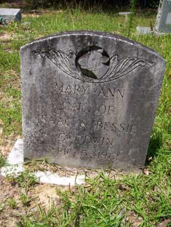 GOODWIN, MARY ANN - Union County, Arkansas | MARY ANN GOODWIN - Arkansas Gravestone Photos