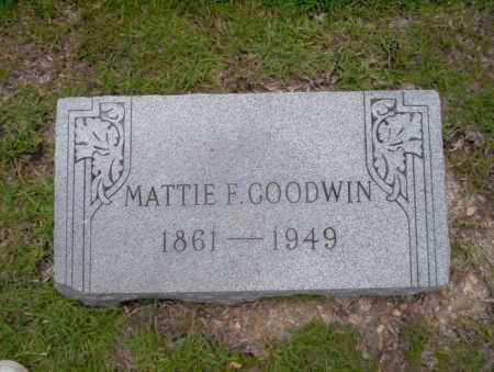 GOODWIN, MATTIE F - Union County, Arkansas | MATTIE F GOODWIN - Arkansas Gravestone Photos
