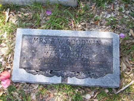 GOODWIN, MRS R.W. - Union County, Arkansas | MRS R.W. GOODWIN - Arkansas Gravestone Photos