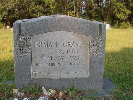 GRAVES, ERMA F - Union County, Arkansas | ERMA F GRAVES - Arkansas Gravestone Photos