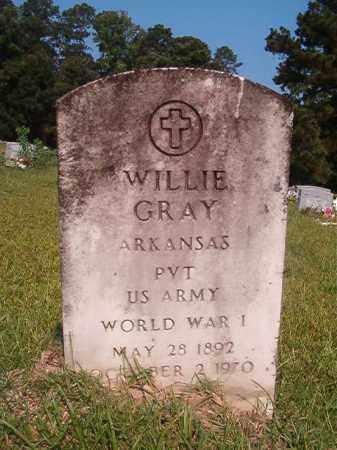 GRAY (VETERAN WWI), WILLIE - Union County, Arkansas | WILLIE GRAY (VETERAN WWI) - Arkansas Gravestone Photos