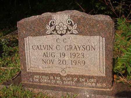 GRAYSON, CALVIN C - Union County, Arkansas   CALVIN C GRAYSON - Arkansas Gravestone Photos