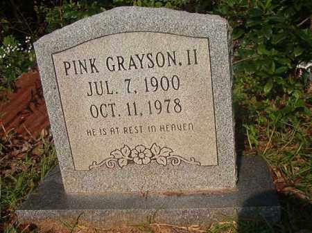 GRAYSON, II, PINK - Union County, Arkansas | PINK GRAYSON, II - Arkansas Gravestone Photos