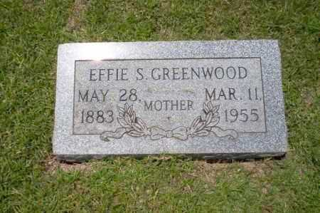 GREENWOOD, EFFIE S - Union County, Arkansas | EFFIE S GREENWOOD - Arkansas Gravestone Photos