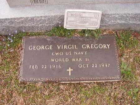 GREGORY (VETERAN WWII), GEORGE VIRGIL - Union County, Arkansas   GEORGE VIRGIL GREGORY (VETERAN WWII) - Arkansas Gravestone Photos