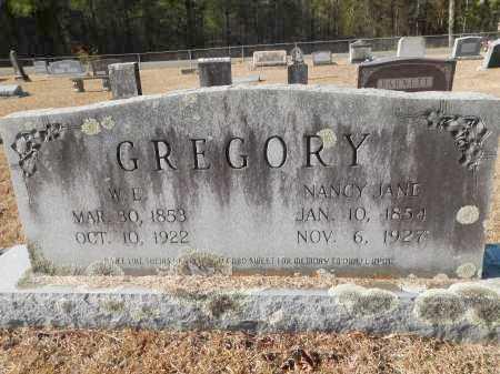 GREGORY, NANCY JANE - Union County, Arkansas | NANCY JANE GREGORY - Arkansas Gravestone Photos