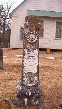 GREGORY, WILLIAM D - Union County, Arkansas | WILLIAM D GREGORY - Arkansas Gravestone Photos