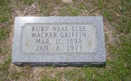 WAKER GRIFFIN, RUBY NEAL ELSE - Union County, Arkansas | RUBY NEAL ELSE WAKER GRIFFIN - Arkansas Gravestone Photos