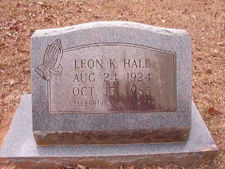 HALL, LEON K - Union County, Arkansas | LEON K HALL - Arkansas Gravestone Photos