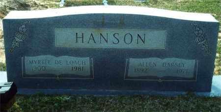 DELOACH HANSON, MYRTLE - Union County, Arkansas | MYRTLE DELOACH HANSON - Arkansas Gravestone Photos