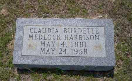 HARBISON, CLAUDIA BURDETTE - Union County, Arkansas | CLAUDIA BURDETTE HARBISON - Arkansas Gravestone Photos