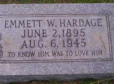 HARDAGE, EMMETT W - Union County, Arkansas   EMMETT W HARDAGE - Arkansas Gravestone Photos