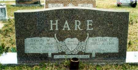CHISHOLN HARE, LILLIAN - Union County, Arkansas | LILLIAN CHISHOLN HARE - Arkansas Gravestone Photos