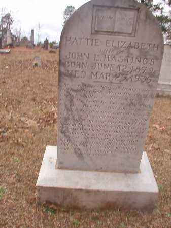 HASTINGS, HATTIE ELIZABETH - Union County, Arkansas | HATTIE ELIZABETH HASTINGS - Arkansas Gravestone Photos