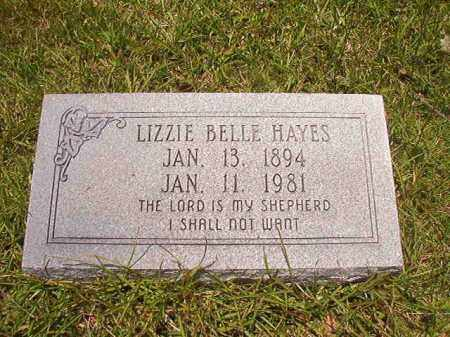 HAYES, LIZZIE BELLE - Union County, Arkansas | LIZZIE BELLE HAYES - Arkansas Gravestone Photos