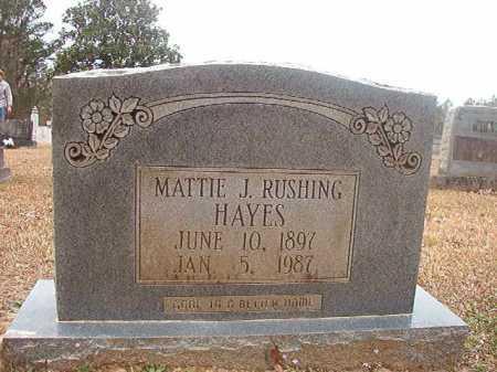 RUSHING HAYES, MATTIE J - Union County, Arkansas | MATTIE J RUSHING HAYES - Arkansas Gravestone Photos