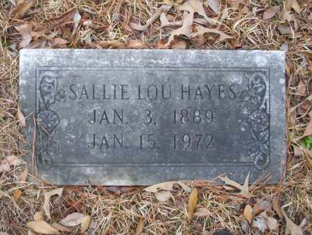 HAYES, SALLIE LOU - Union County, Arkansas | SALLIE LOU HAYES - Arkansas Gravestone Photos