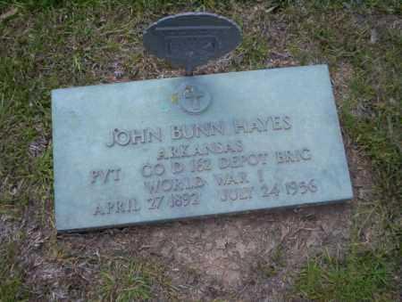 HAYES (VETERAN WWI), JOHN BUNN - Union County, Arkansas | JOHN BUNN HAYES (VETERAN WWI) - Arkansas Gravestone Photos