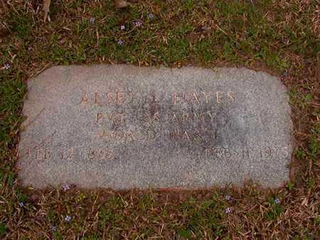HAYES (VETERAN WWI), ALSEY L - Union County, Arkansas | ALSEY L HAYES (VETERAN WWI) - Arkansas Gravestone Photos
