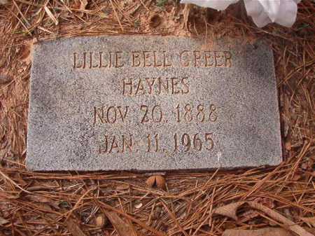 HAYNES, LILLIE BELL - Union County, Arkansas | LILLIE BELL HAYNES - Arkansas Gravestone Photos