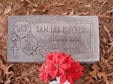 HAYNES, SAM LEE - Union County, Arkansas   SAM LEE HAYNES - Arkansas Gravestone Photos
