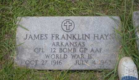 HAYS  (VETERAN WWII), JAMES FRANKLIN - Union County, Arkansas | JAMES FRANKLIN HAYS  (VETERAN WWII) - Arkansas Gravestone Photos