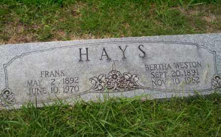 HAYS, FRANK - Union County, Arkansas | FRANK HAYS - Arkansas Gravestone Photos