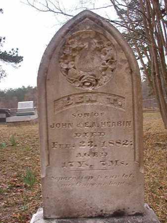 HEARIN, BEN T - Union County, Arkansas | BEN T HEARIN - Arkansas Gravestone Photos