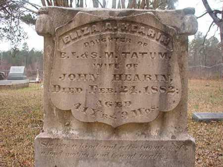 TATUM HEARIN, ELIZA A - Union County, Arkansas | ELIZA A TATUM HEARIN - Arkansas Gravestone Photos