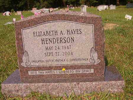 HENDERSON, ELIZABETH A - Union County, Arkansas   ELIZABETH A HENDERSON - Arkansas Gravestone Photos