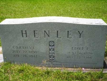 HENLEY, CARLOS C - Union County, Arkansas | CARLOS C HENLEY - Arkansas Gravestone Photos