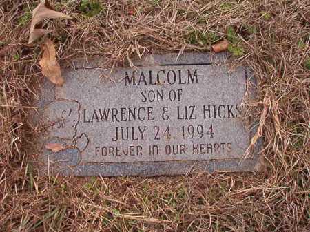 HICKS, MALCOLM - Union County, Arkansas | MALCOLM HICKS - Arkansas Gravestone Photos