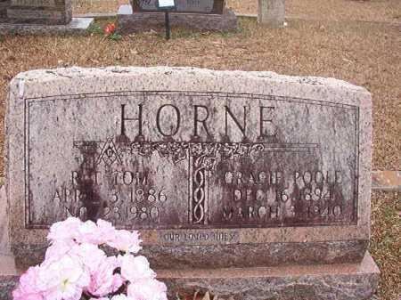 POOLE HORNE, GRACIE - Union County, Arkansas | GRACIE POOLE HORNE - Arkansas Gravestone Photos