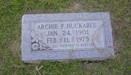 HUCKABEE, ARCHIE F - Union County, Arkansas | ARCHIE F HUCKABEE - Arkansas Gravestone Photos