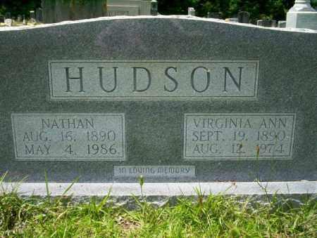 HUDSON, VIRGINIA ANN - Union County, Arkansas | VIRGINIA ANN HUDSON - Arkansas Gravestone Photos