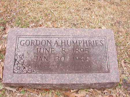 HUMPHRIES, GORDON A - Union County, Arkansas   GORDON A HUMPHRIES - Arkansas Gravestone Photos