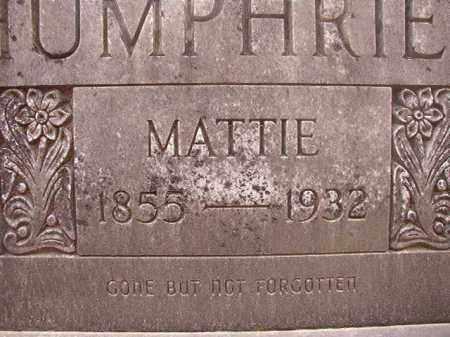 HUMPHRIES, MATTIE - Union County, Arkansas   MATTIE HUMPHRIES - Arkansas Gravestone Photos